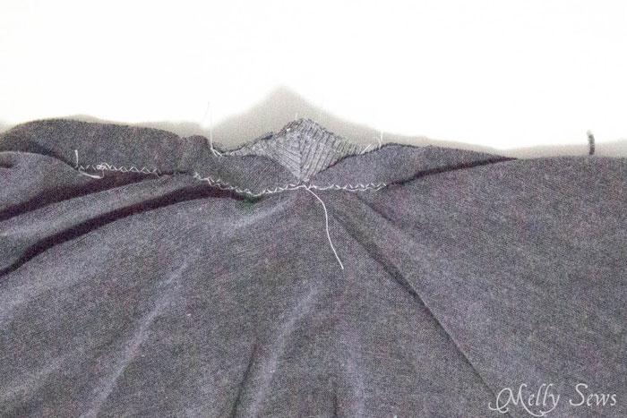 Step 4 - Alternate method to sew a V Neck