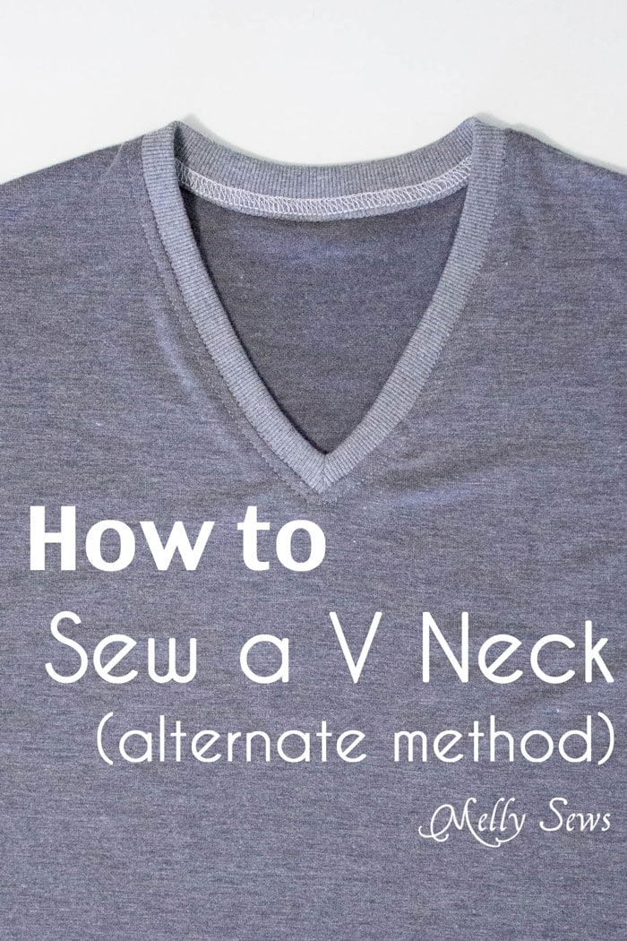 Alternate method to sew a V Neck