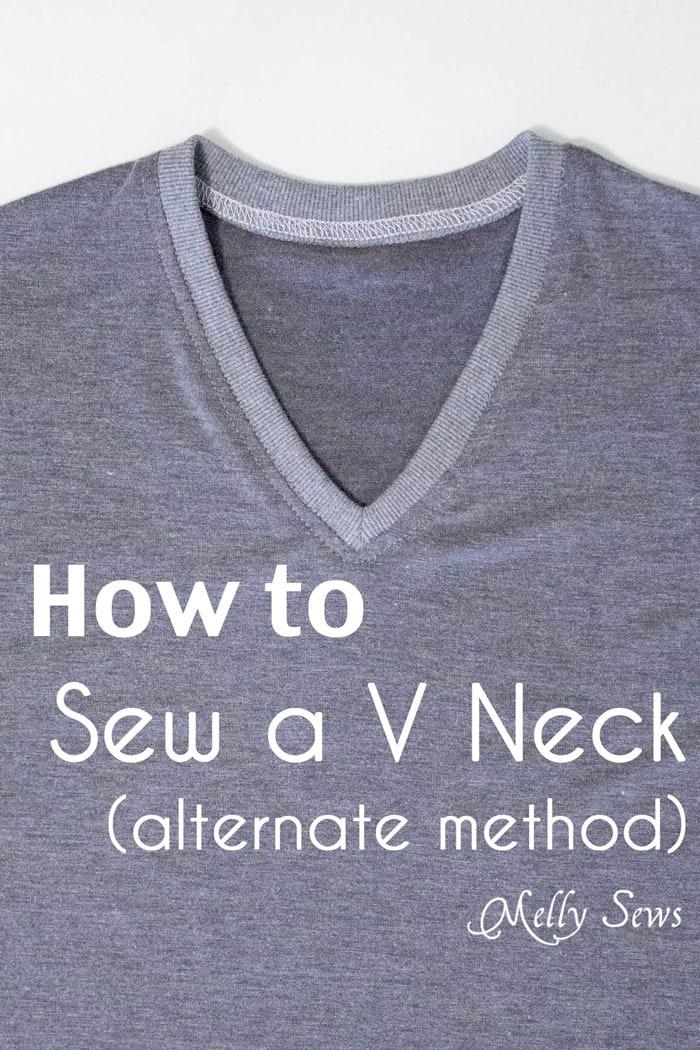 Alternate method to sew a V Neck