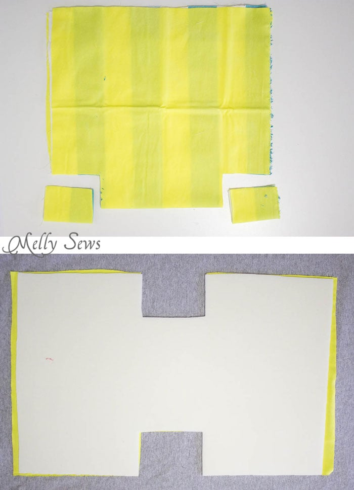 Step 1 - Sew a bucket for pegboard - DIY peg board organization tutorial by Melly Sews