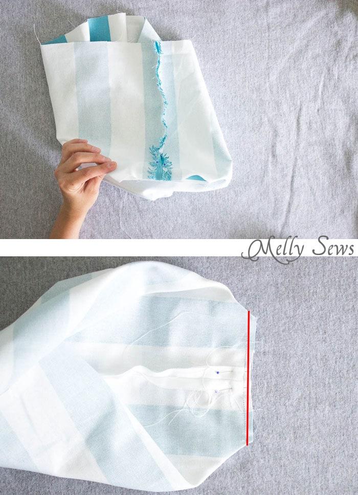 Step 3 - Sew a bucket for pegboard - DIY peg board organization tutorial by Melly Sews