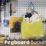 Pegboard Organization – Sew a Rag Bucket