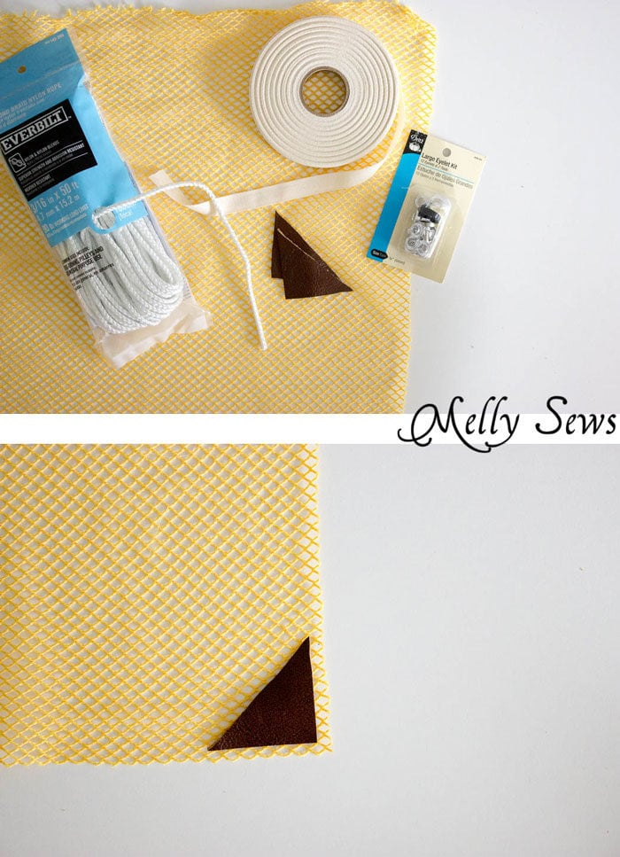 Supplies - Make a Drawstring Bag - Sew a Mesh Drawstring Bag for Sports Equipment or Laundry - Tutorial by Melly Sews