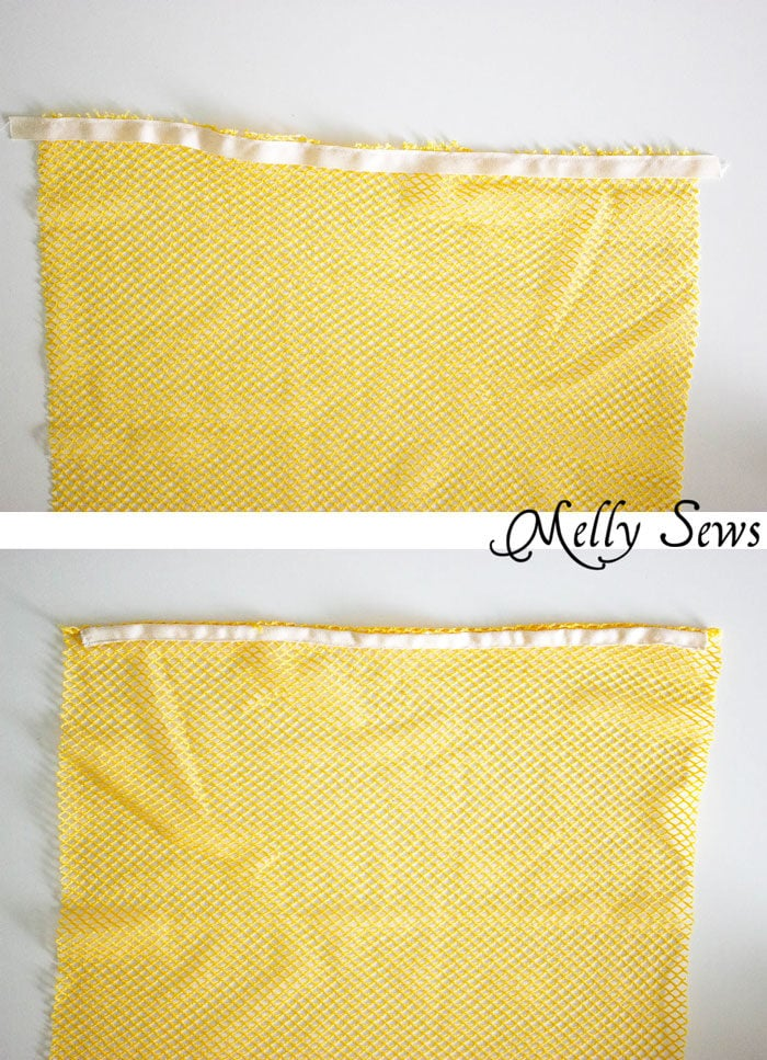 Step 1- Make a Drawstring Bag - Sew a Mesh Drawstring Bag for Sports Equipment or Laundry - Tutorial by Melly Sews