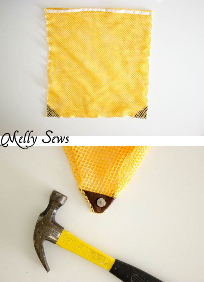 Step 2 - Make a Drawstring Bag - Sew a Mesh Drawstring Bag for Sports Equipment or Laundry - Tutorial by Melly Sews