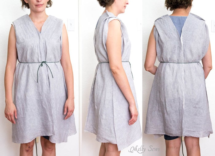 Step 2 - Linen Sundress Tutorial - DIY Dress for any size by Melly Sews for (30) Days of Sundresses