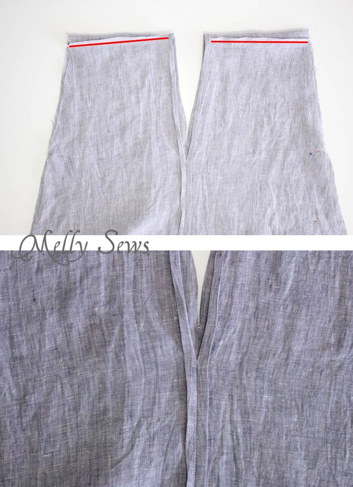Step 3 - Linen Sundress Tutorial - DIY Dress for any size by Melly Sews for (30) Days of Sundresses