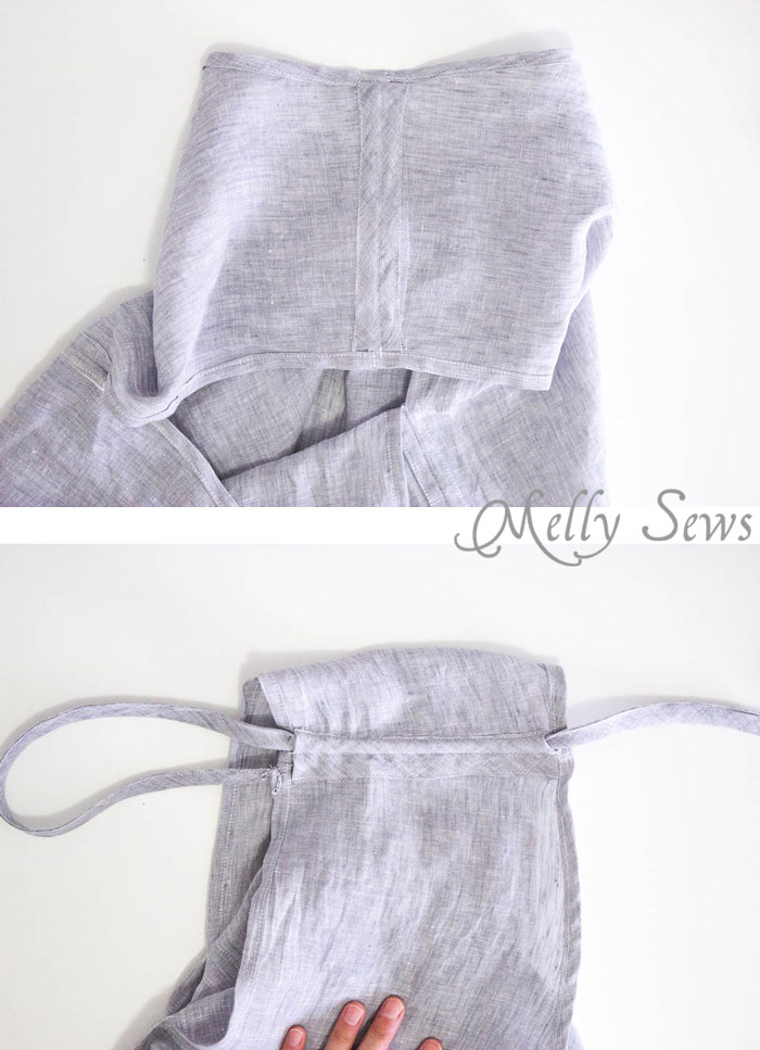 Step 4 - Linen Sundress Tutorial - DIY Dress for any size by Melly Sews for (30) Days of Sundresses