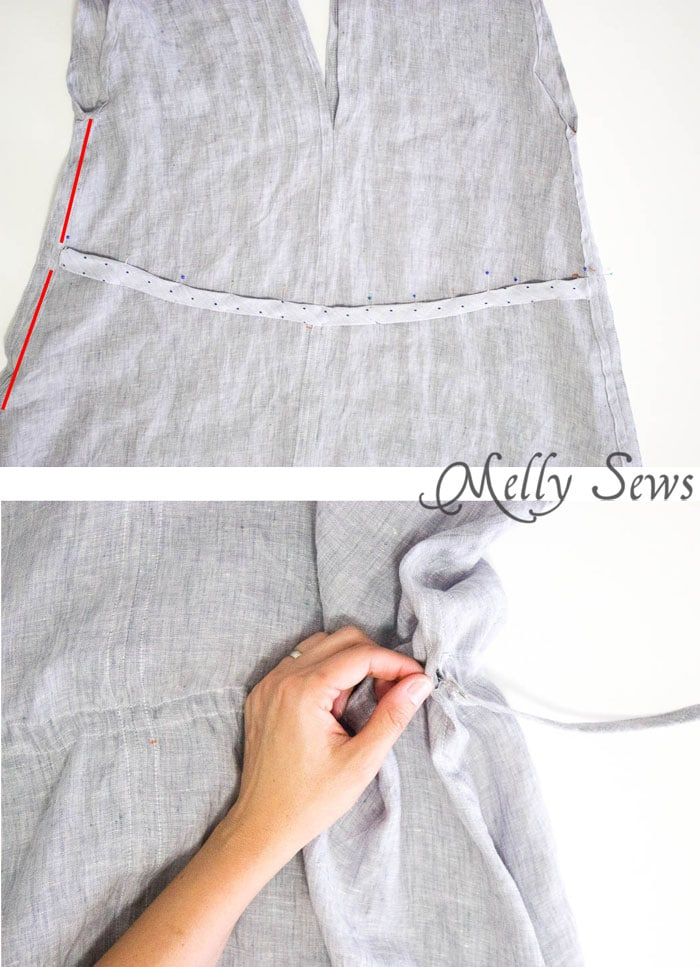 Step 5 - Linen Sundress Tutorial - DIY Dress for any size by Melly Sews for (30) Days of Sundresses