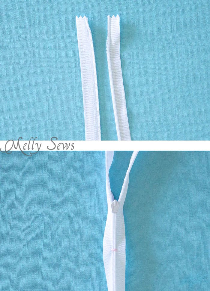 Step 1 - How to Sew an Invisible Zipper - You don't need a special invisible zipper foot! Step by Step tutorial by Melly Sews