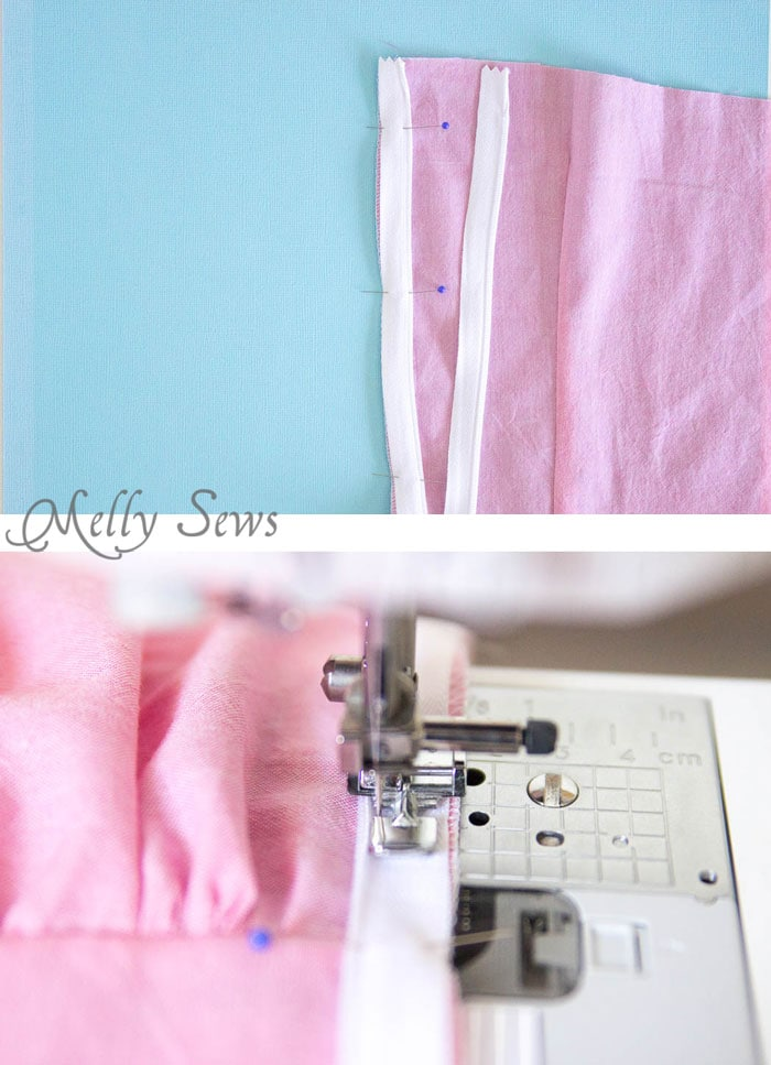 Step 2 - How to Sew an Invisible Zipper - You don't need a special invisible zipper foot! Step by Step tutorial by Melly Sews