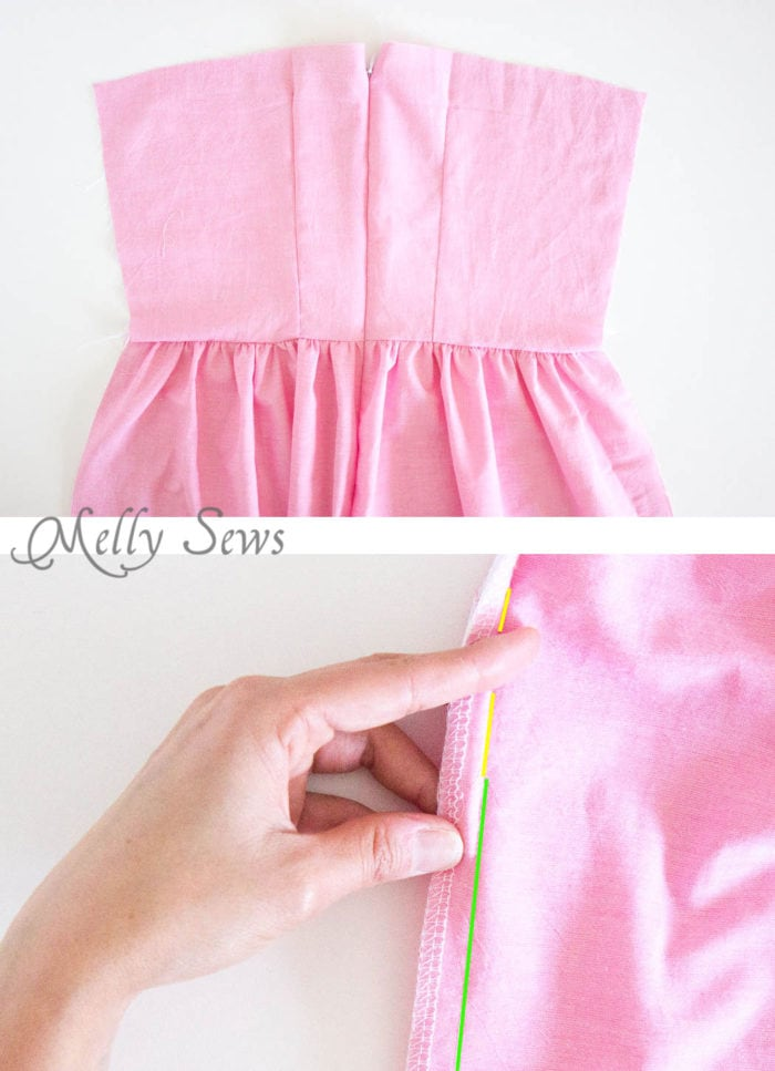 Step 4 - How to Sew an Invisible Zipper - You don't need a special invisible zipper foot! Step by Step tutorial by Melly Sews