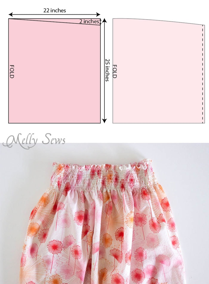 Step 3 - Sew an easy shirred sundress - so cute and quick! DIY sewing tutorial by Melly Sews for (30) Days of Sundresses