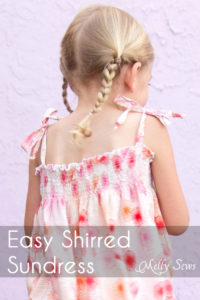 Sew an easy shirred sundress - so cute and quick! DIY sewing tutorial by Melly Sews for (30) Days of Sundresses