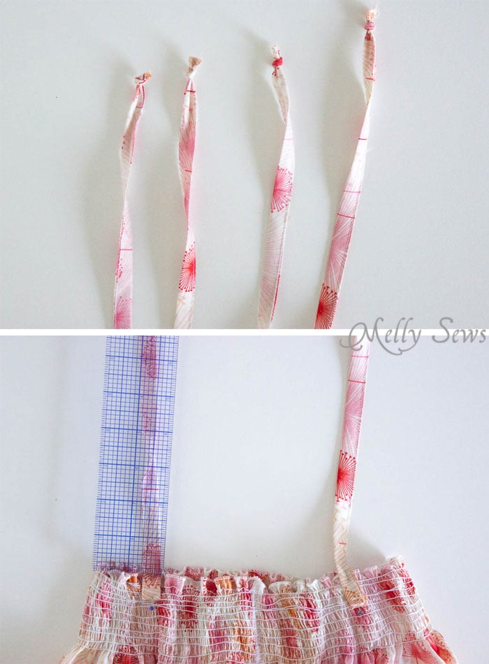 Step 2 - Sew an easy shirred sundress - so cute and quick! DIY sewing tutorial by Melly Sews for (30) Days of Sundresses