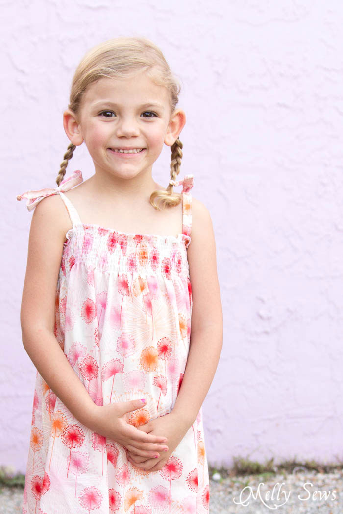 Must Make! Sew an easy shirred sundress - so cute and quick! DIY sewing tutorial by Melly Sews for (30) Days of Sundresses