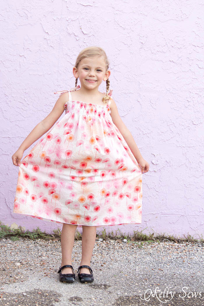 Precious! -Sew an easy shirred sundress - so cute and quick! DIY sewing tutorial by Melly Sews for (30) Days of Sundresses