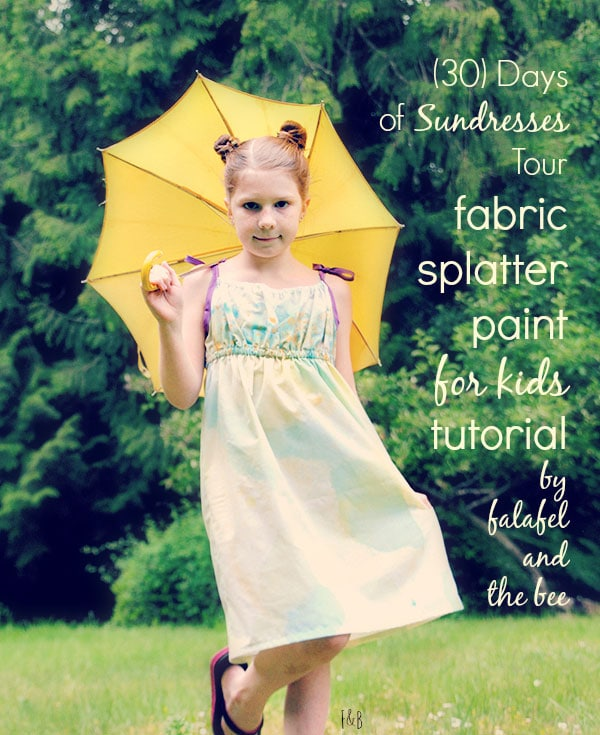 Splatter Paint Sundress by Falafel and the Bee for Melly Sews (30) Days of Sundresses