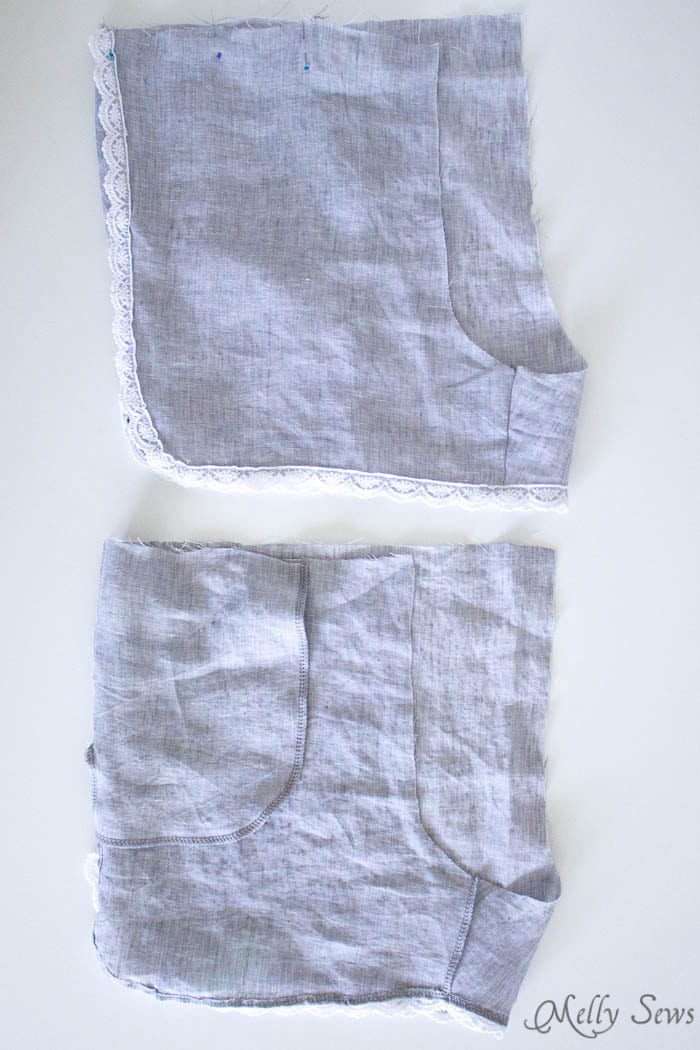 Step 4 - Sew these DIY shorts with a free pattern from Melly Sews