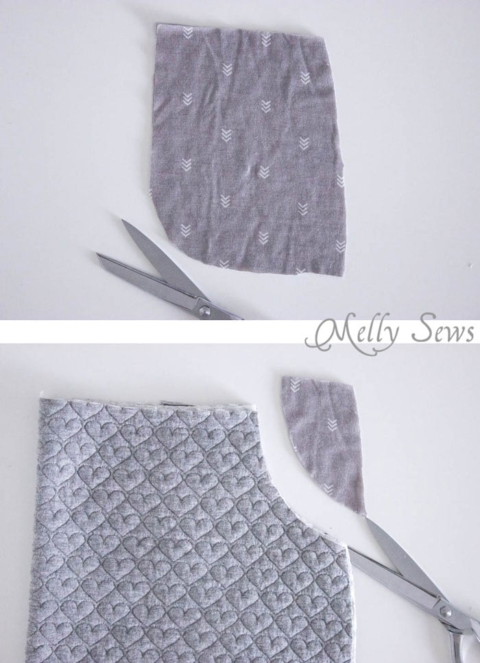 Step 1 - Pencil Skirt Tutorial - sew a simple pencil skirt with pockets with this easy DIY tutorial from Melly Sews