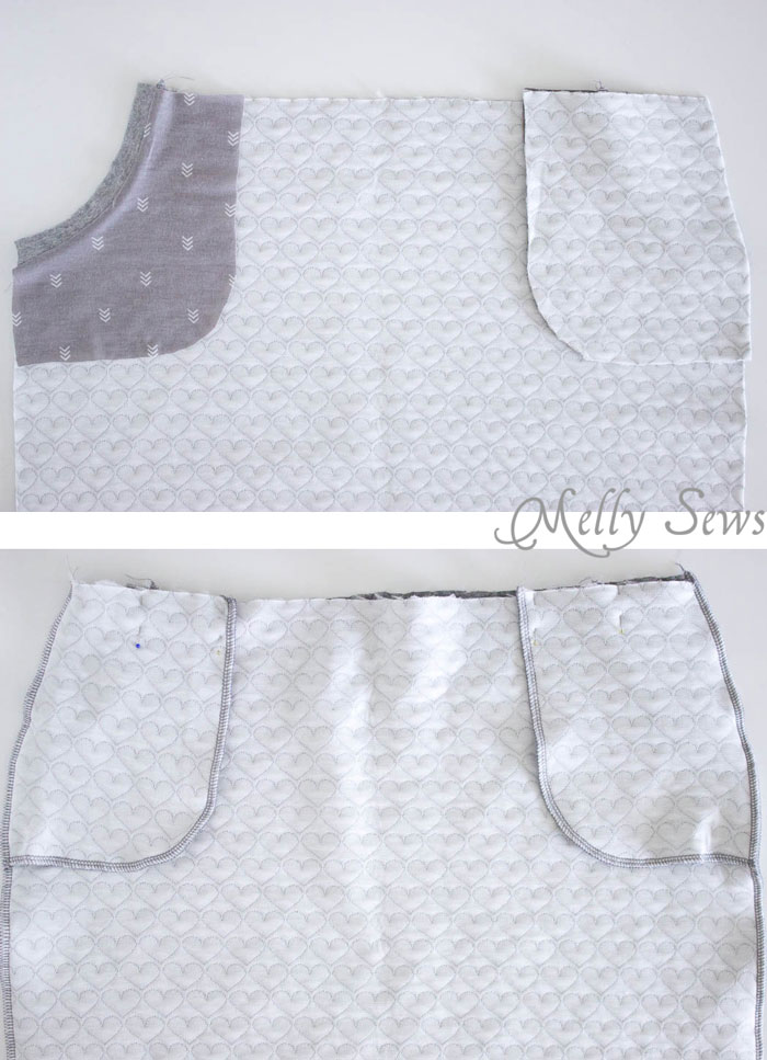 Step 4 - Pencil Skirt Tutorial - sew a simple pencil skirt with pockets with this easy DIY tutorial from Melly Sews