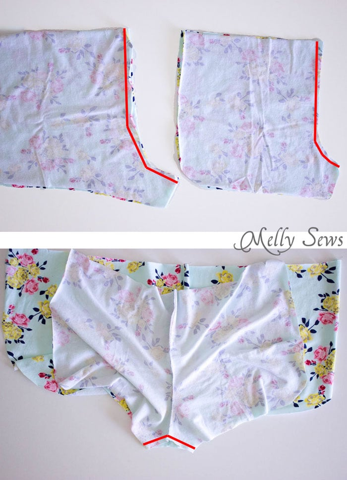 Step 1 - DIY Pom Pom Trim Shorts - These easy to make shorts are at home on the beach or at a concert. Sew boho shorts with this free pattern and tutorial by Melly Sews