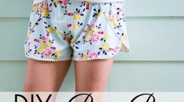 Sew Pom Pom Shorts with Free Pattern!