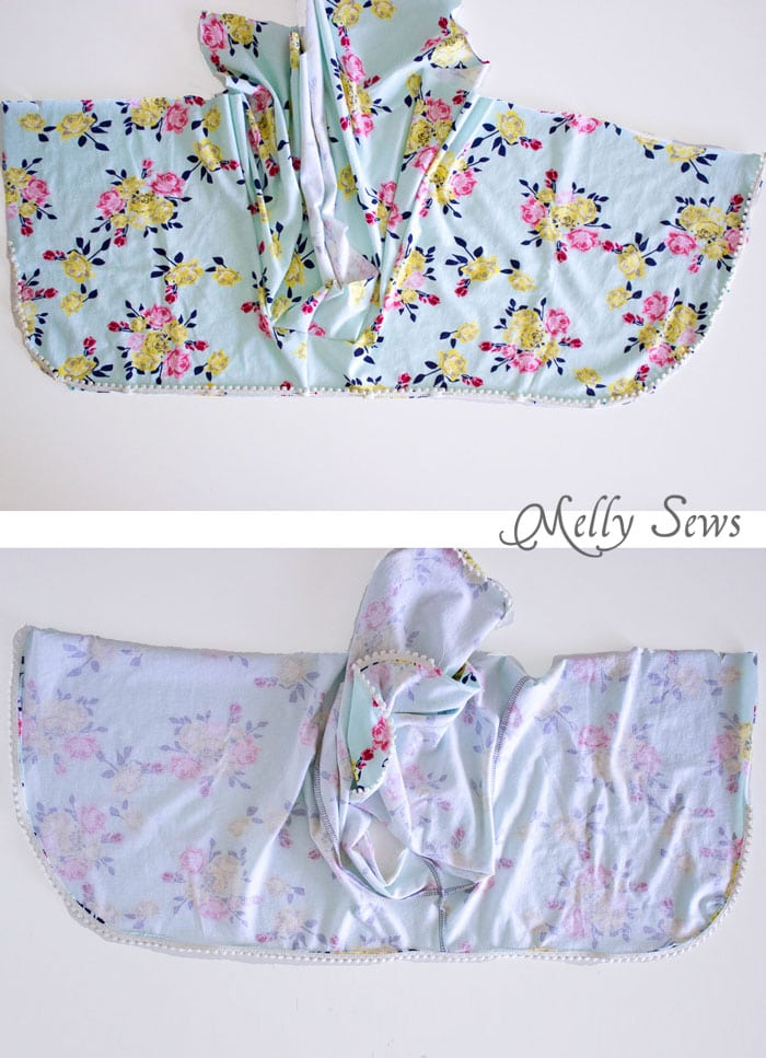 Step 2- DIY Pom Pom Trim Shorts - These easy to make shorts are at home on the beach or at a concert. Sew boho shorts with this free pattern and tutorial by Melly Sews
