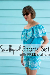 Make this Set - like a Romper, but better! Sew a DIY off the shoulder top and shorts - Melly Sews