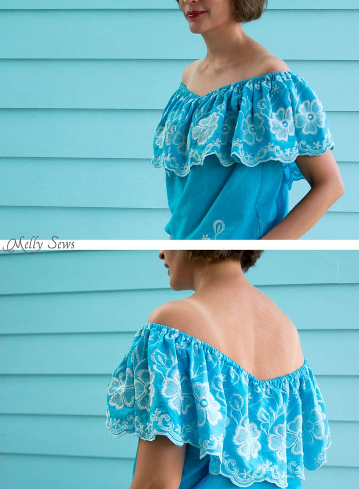 Off the shoulder top - Make this Set - like a Romper, but better! Sew a DIY off the shoulder top and shorts - Melly Sews