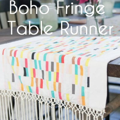 Boho Fringe Table Runner – Boardwalk Delight Blog Party