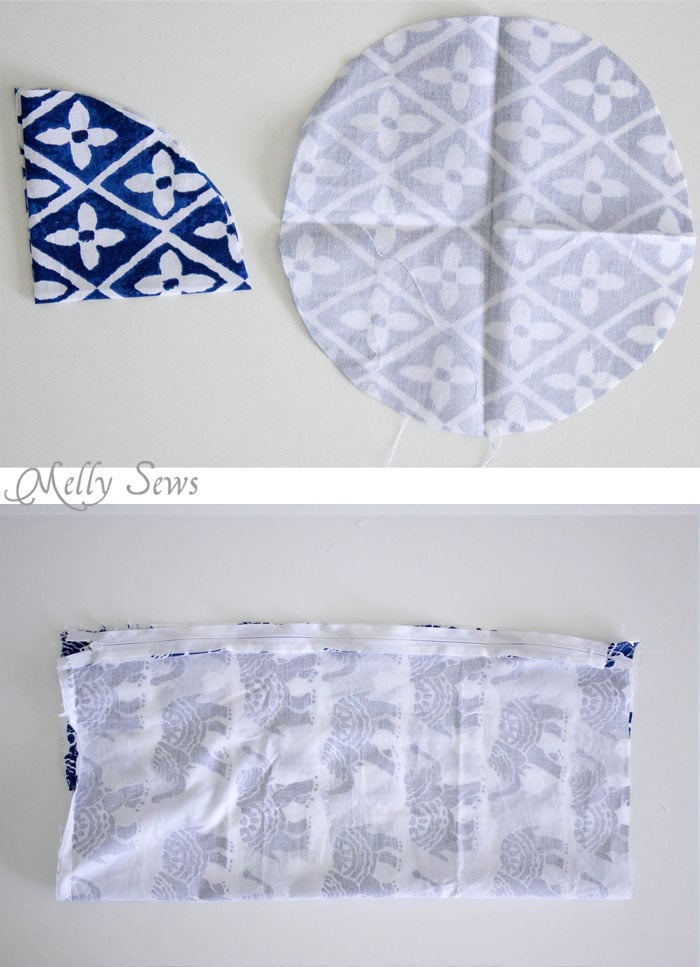 Step 1 - Sew a Bolster Pillow - Bolster Pillow Tutorial - Love this Boho Style pillow with pom pom trim! - Melly Sews