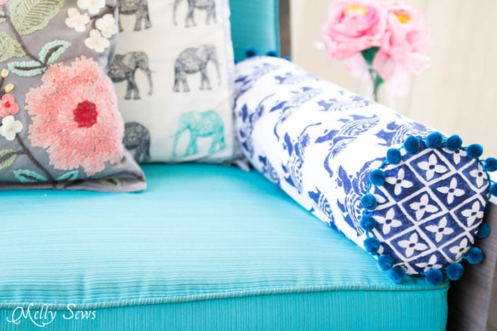 How To Sew A Bolster Pillow Melly Sews Mesmerizing Sew Bolster Pillow Cover