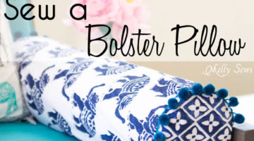 How to Sew a Bolster Pillow