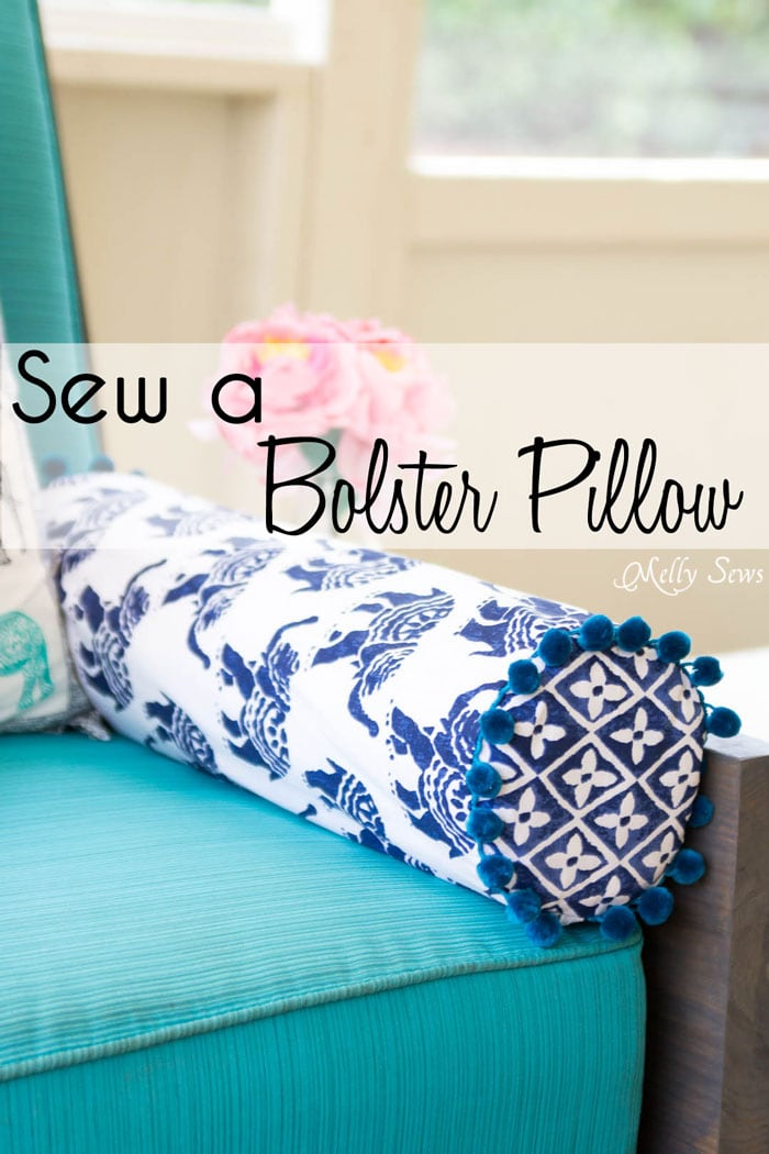 How to sew a bolster pillow melly sews for Cheap kids pillows
