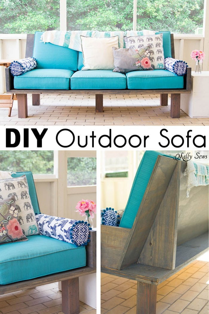 Plywood Couch Build a DIY Outdoor Sofa Melly Sews