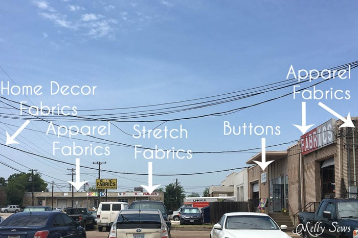 Location of shops - Warehouse Fabric Shopping in Dallas - a Guide to Inexpensive Fabric - Melly Sews