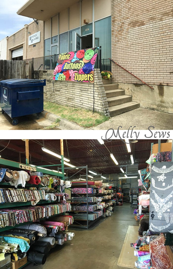 Button and Fabric Warehouse - Warehouse Fabric Shopping in Dallas - a Guide to Inexpensive Fabric - Melly Sews