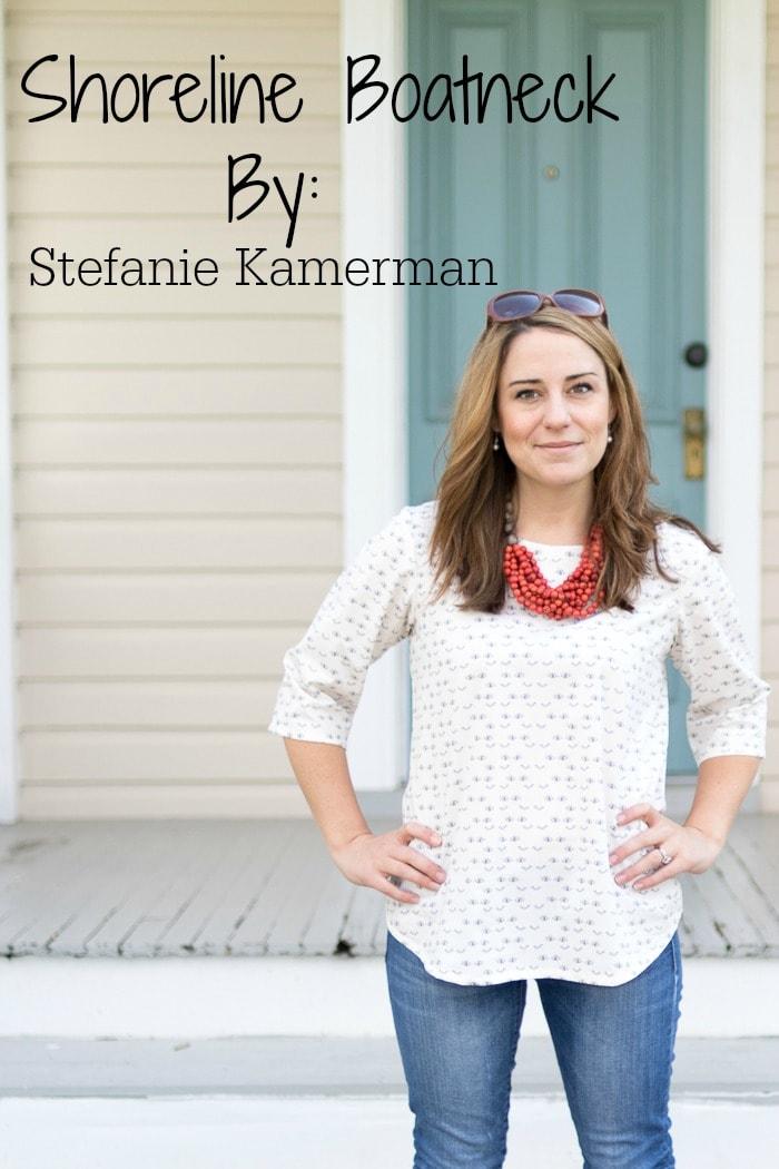 Shoreline Boatneck sewing pattern by Blank Slate Patterns sewn by Stefanie Kamerman