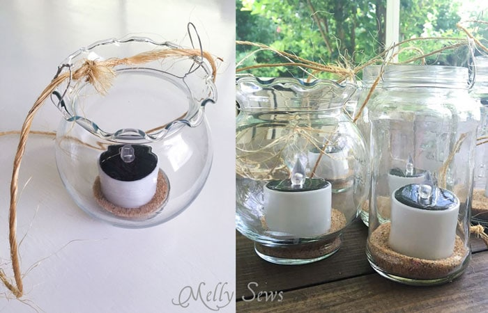 Step 2 - How to make Mason Jar Hanging Tea Lights - with environmentally friendly Solar Tea Lights