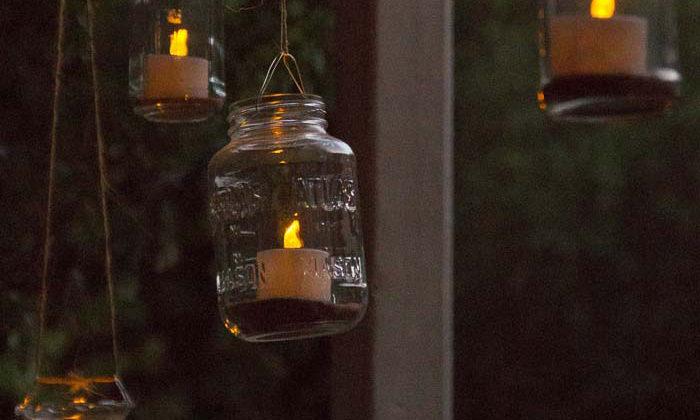 Hanging Solar Tea Lights