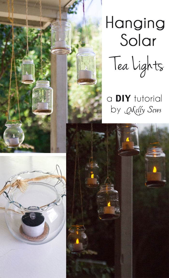 How to make Mason Jar Hanging Tea Lights - with environmentally friendly Solar Tea Lights