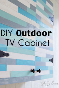 Build a DIY Outdoor TV Cabinet. This overview tutorial from Melly Sews shows how they did theirs and includes a supply list they used