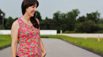 Texana Tank with Dandelion Drift – Blank Slate Sewing Team