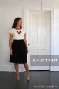 blanc t-shirt sewing pattern by blank slate patterns sewn by sweetkm