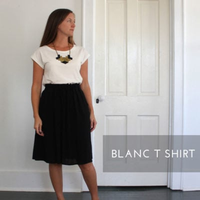Blanc T Shirt with SweetKM