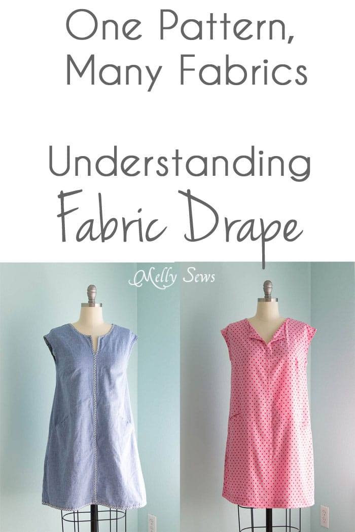 How Fabric Drape Affects a Sewing Pattern - Melly Sews