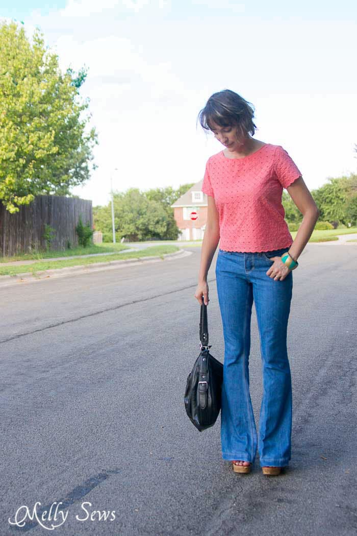 Flared jeans - How to Fade Your Jeans - Tips and Techniques from Melly Sews