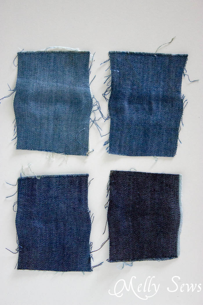 Bleach affects Spandex - How to Fade Your Jeans - Melly Sews