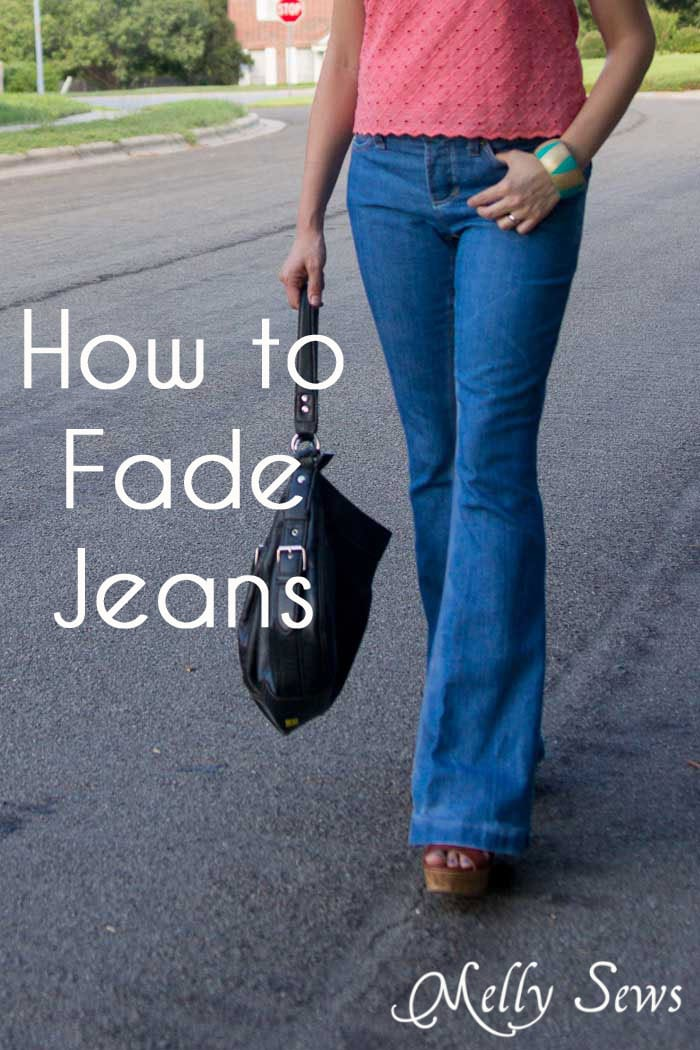 How to Fade Your Jeans - Tips and Techniques from Melly Sews